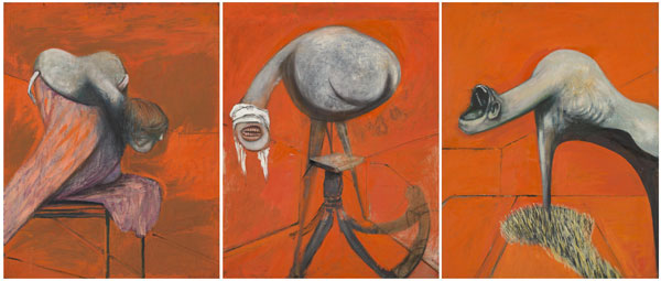 Francis Bacon, 1909-1992 Three Studies for Figures at the Base of a Crucifixion c.1944 © Tate