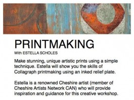 Printmaking (collagraph) Workshop with Estella Scholes