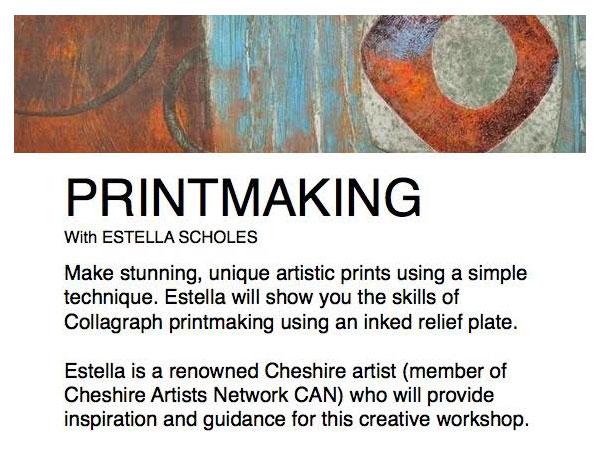 Printmaking (collagraph) Workshop with Estella Scholes