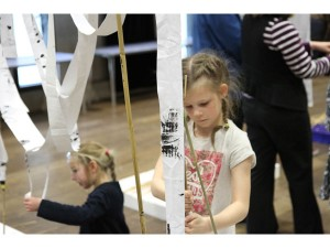 young participants assist with the bluecoat's ARMA commission