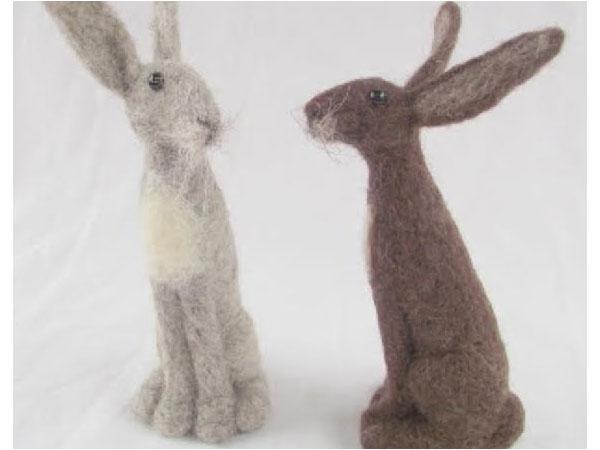 Needlefelt Hares Workshop