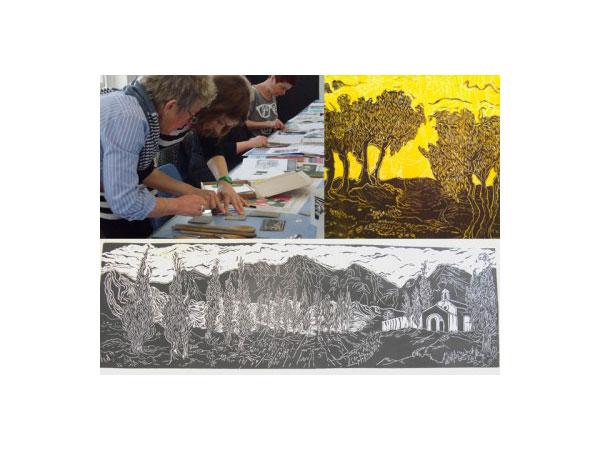 Lino-Print workshop with Gill Curry