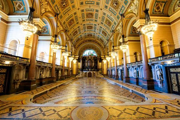 St George's Hall: Minton Tile Floor Open to the Public