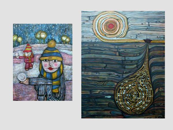 Girls in the Snow and Sea Trawler by Joel Bird