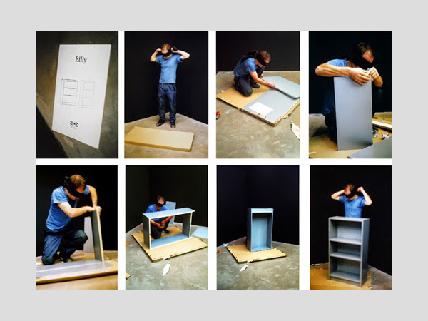 Frédéric Pradeau, IKEA furniture constructed blindfolded, Video