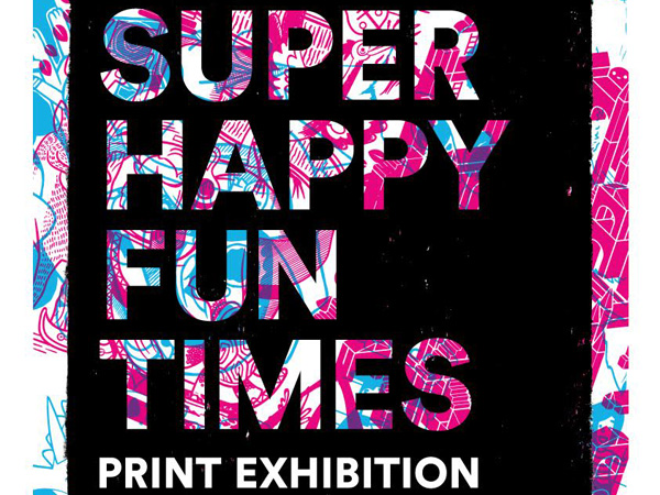 Golden Square Coffee: The Print Social presents Super Happy Fun Times print exhibition