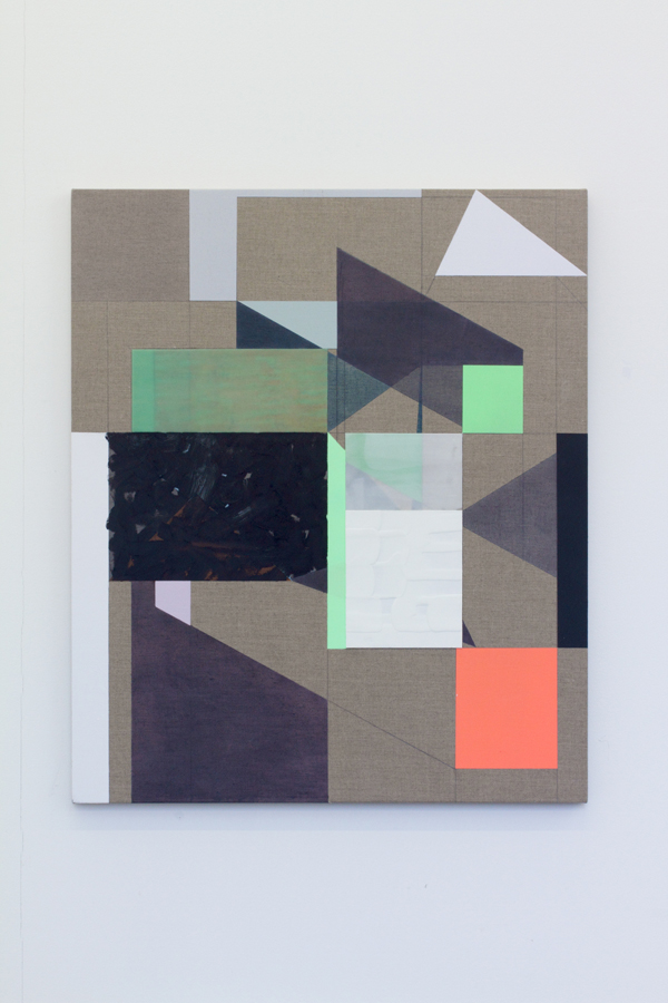 Andrew Bick OGVDS-GW-6-2014 acrylic pencil oil paint watercolour and wax on linen on wood 76 x 64 x 3.5 cm. Courtesy of von Bartha and the artist