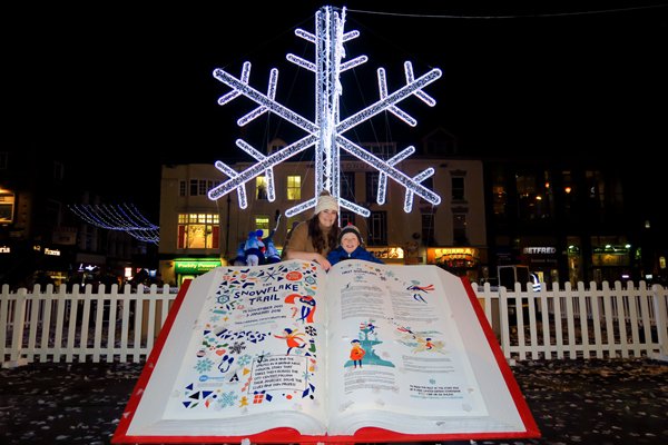 Book of the Snowflake Trail story with the author, Lisa Bower. Photo by artinliverpool