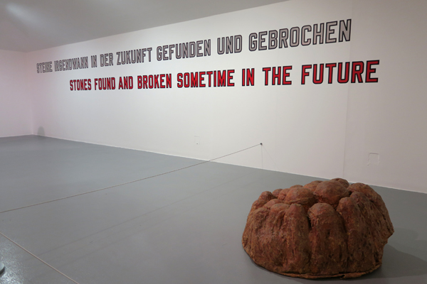 Lawrence Weiner. Stones Found and Broken Sometime in the Future. 1994