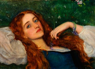 'In The Grass', (detail) Arthur Hughes © Museums Sheffield