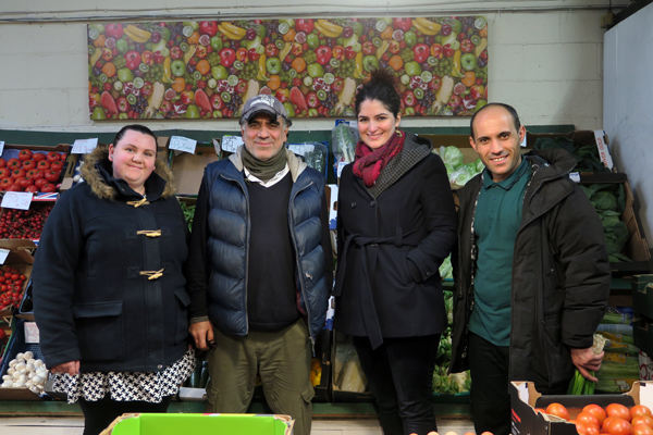 K & N Staff with the artist Haleh Jamali (2nd from fright)