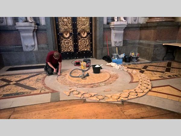 st george's hall minton tiled floor
