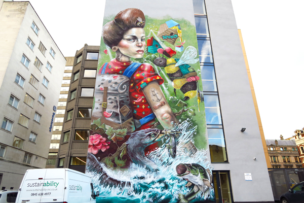 Tempest Building Mural. photo by artinliverpool