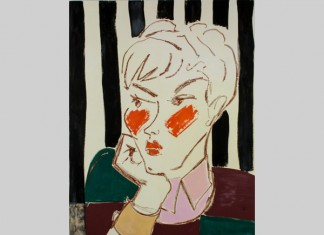 Ella Kruglyanskaya, Pixie on Stripes, 2015 Courtesy the artist and Thomas Dane Gallery, London.