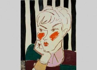 Ella Kruglyanskaya, Pixie on Stripes, 2015 Courtesy the artist and Thomas Dane Gallery, London.