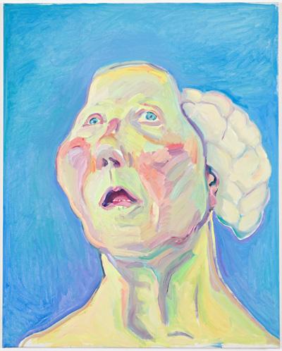 Maria Lassnig, Lady with Brain c. 1990 © Maria Lassnig Foundation