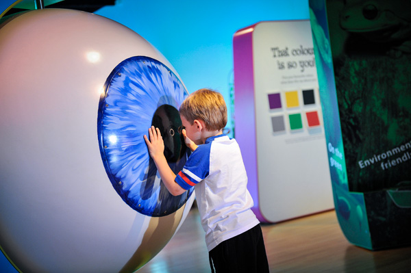 Eye for Colour Human Eye interactive c Tullie House Museum and Gallery Trust