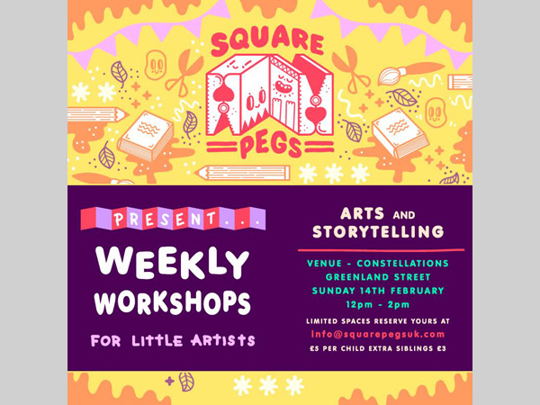Constellations: Square Pegs - Weekly Creative Workshops for Kids