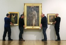 Installation of Pre-Raphaelites Beauty and Rebellion at the Walker Art Gallery. Photo Gareth Jones