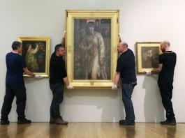 Installation of Pre-Raphaelites Beauty and Rebellion at the Walker Art Gallery. Photo Gareth Jones