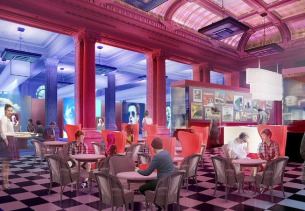 Artist Impression of British Music Experience in the Cunard Building. Image courtesy BME