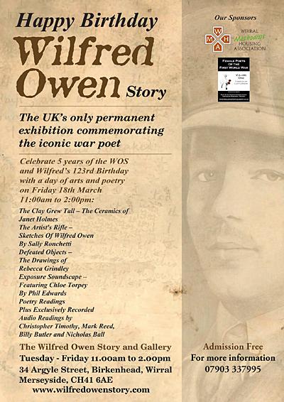 Happy Birthday Wilfred Owen Story