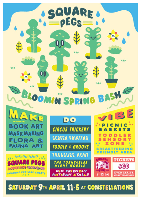 Square Pegs Bloomin Spring Bash