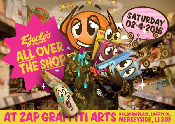 Zap Graffiti Arts: All Over The Shop by Ejecto