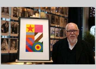 Sir Peter Blake with his new limited edition, Dazzle, 2016. Photo: Gareth Jones