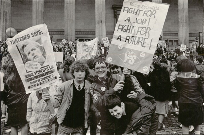 Dave Sinclair. Youth Training Scheme Protest, Liverpool, 25 April 1985 © Dave Sinclair