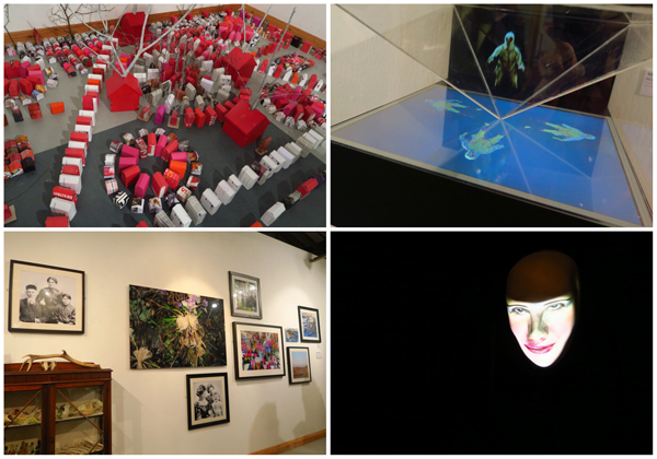 Threshold at The Gallery Liverpool 2016. Clockwise from top-left: Wendy Williams, Tony Knox, Allanson & Lock and Robyn Woolston