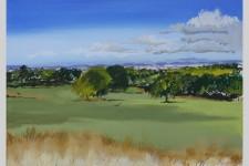 ʻCamp Hill, Woolton' (2015) acrylic on canvas, 30cm x 24cm John Elcock