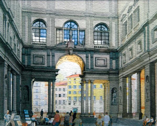 Uffizi Gallery, Florence by John Pickles