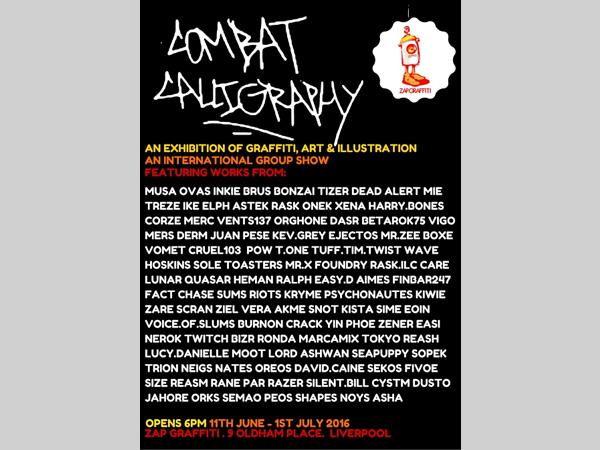 Combat Calligraphy International Group Show