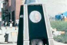 Krzysztof Wodiczko, poliscar 1991, photo courtesy of the artist and galerie lelong new york