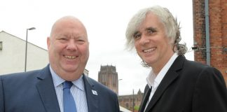 Mayor Joe Anderson with Professor Phil Redmond