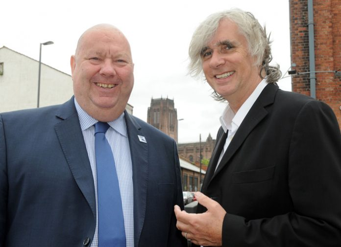 Mayor Joe Anderson with Professor Phil Redmond