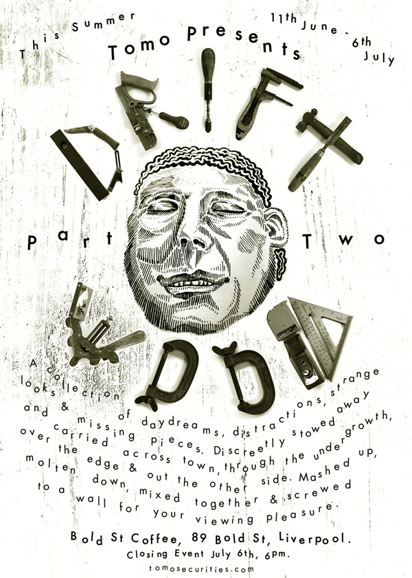 tomo presents driftwood at Bold St Coffee - flyer