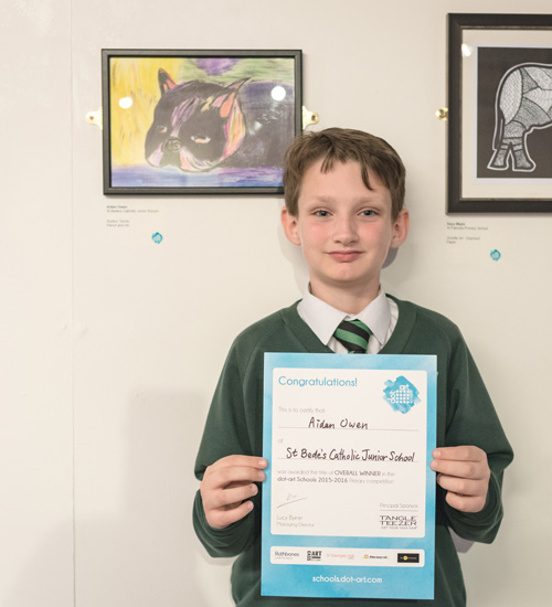 Aidan Owen - Year 6 Overall Winner, dot-art Schools, 2016