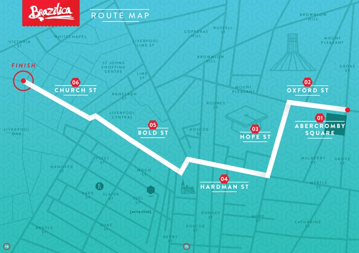 Brazilica 2016 Parade Route Map