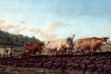 Ploughing in the Nivernais by Rosa Bonheur.