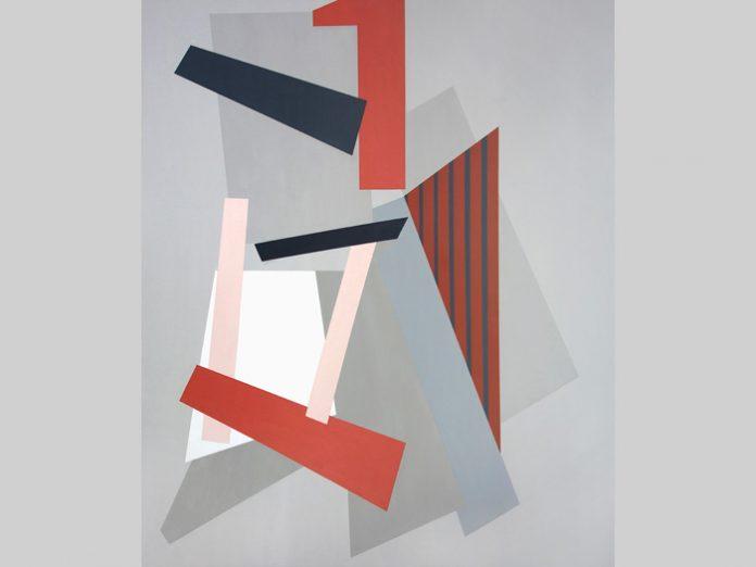 Urban Geometrics, (2015) 100 x 120 cm, acrylic on canvas. Artist: Gabrielle Caul