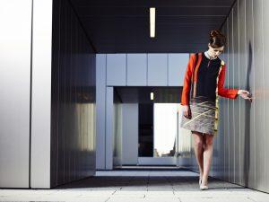 Andrea Zapp lookbook shoot at MM2 School of Art Building