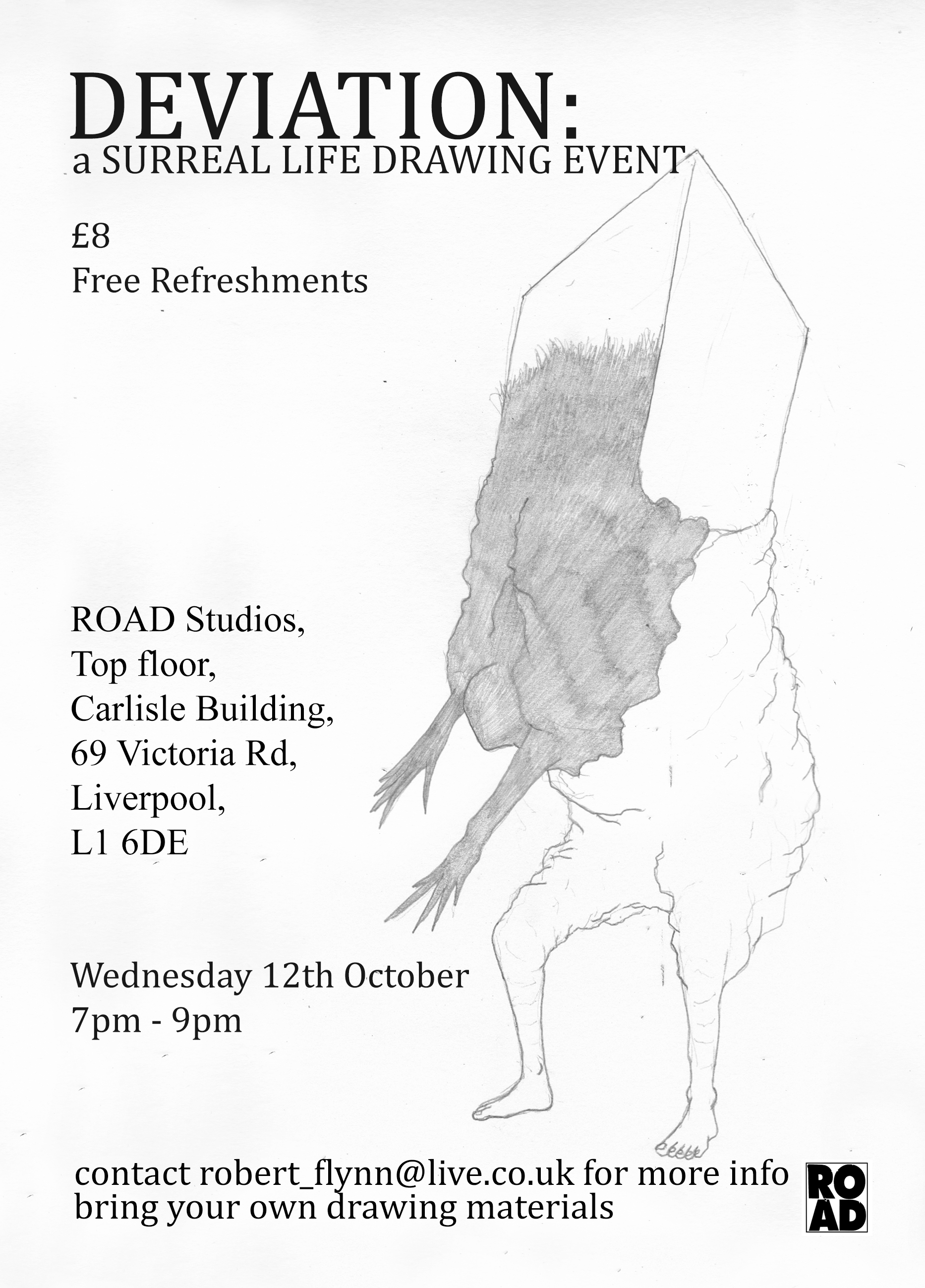 Deviation: a Surreal Life Drawing Experience
