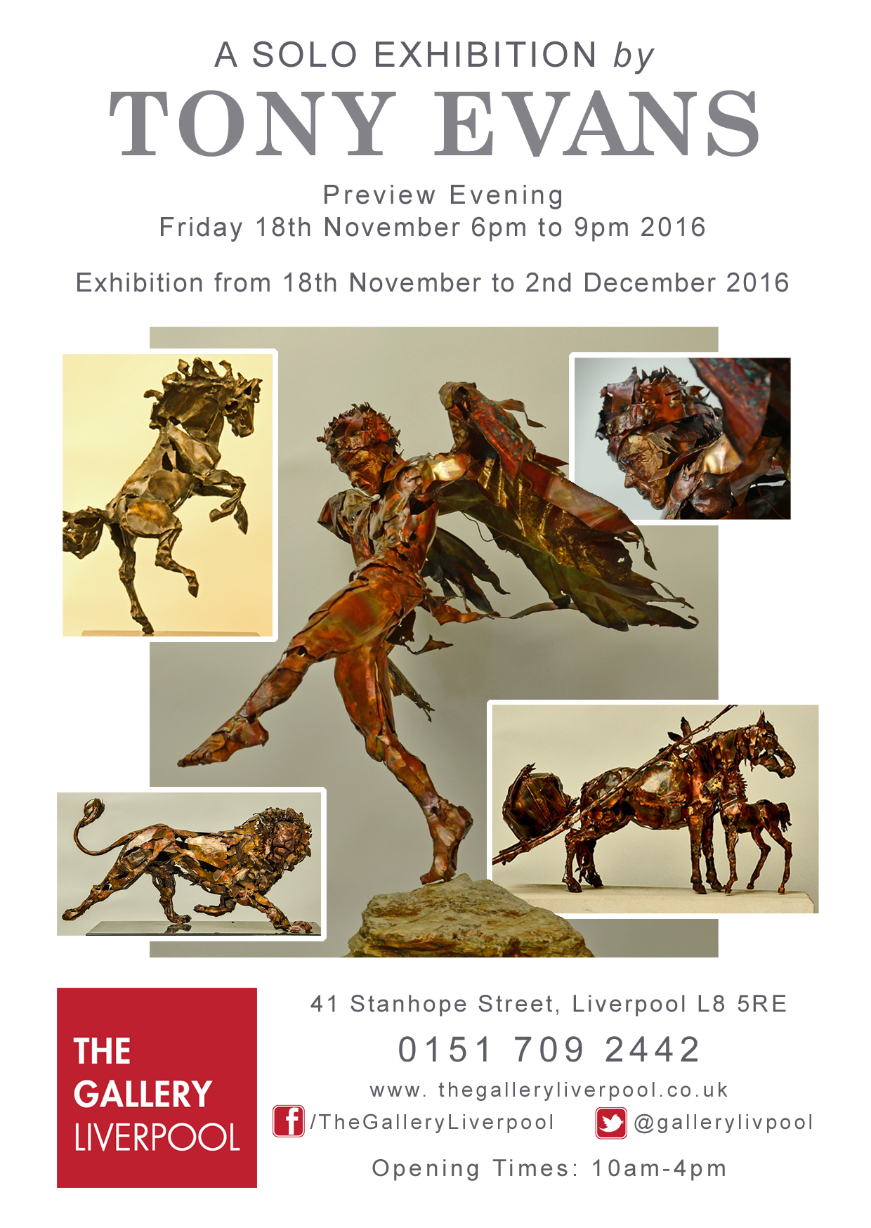 The Gallery Liverpool: Tony Evans a Solo Exhibition