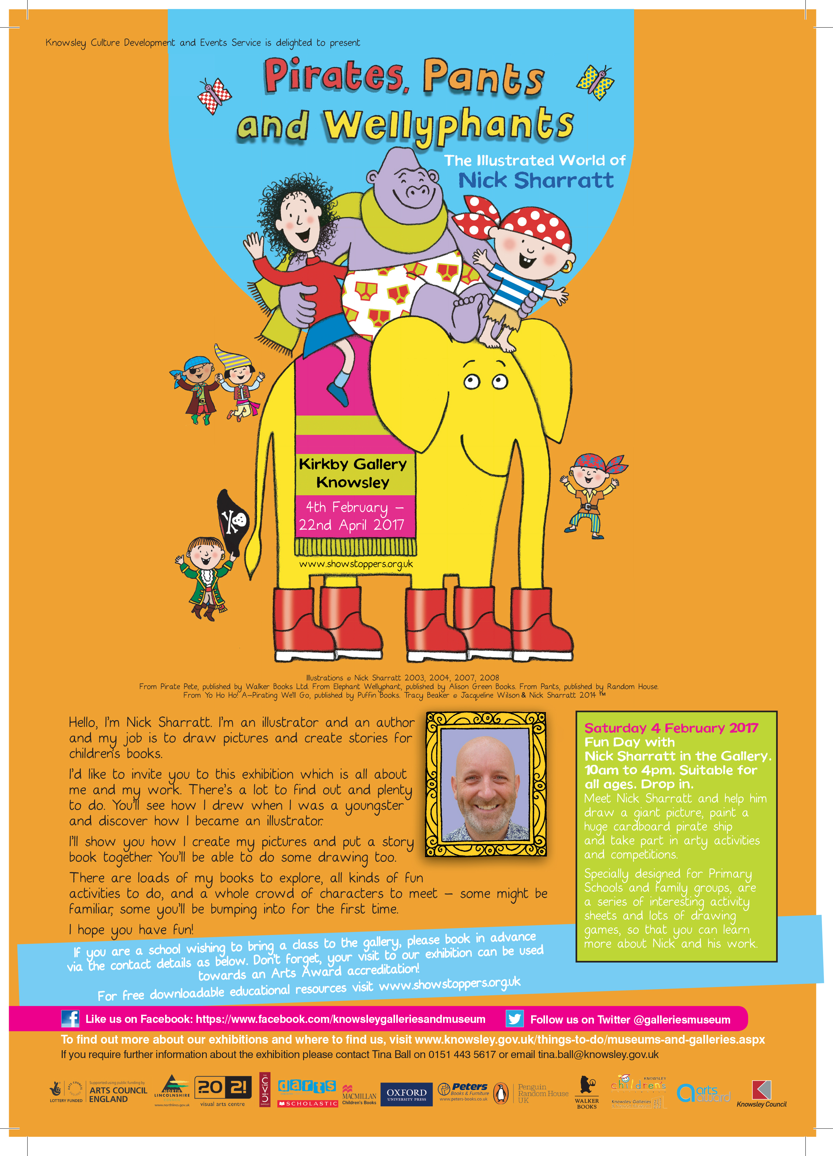 Kirkby Gallery: Pirates, Pants and Wellyphants: Nick Sharratt