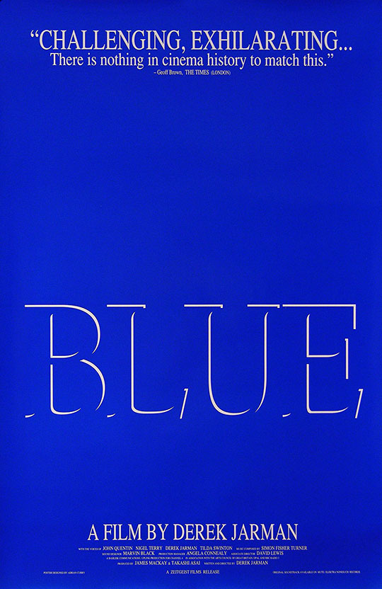 The Serving Library: The Serving Library present Blue by Derek Jarman