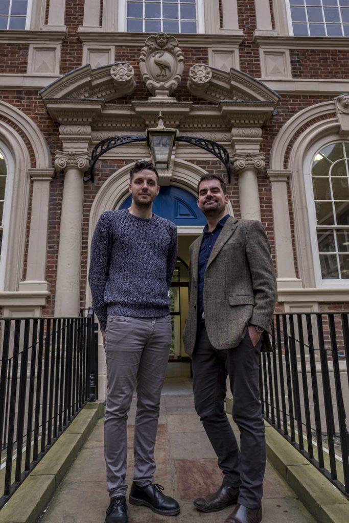 L-R Jonny Biggs (Digital Director Nonconform) and Gavin Davenport (My Bluecoat Project Manager)