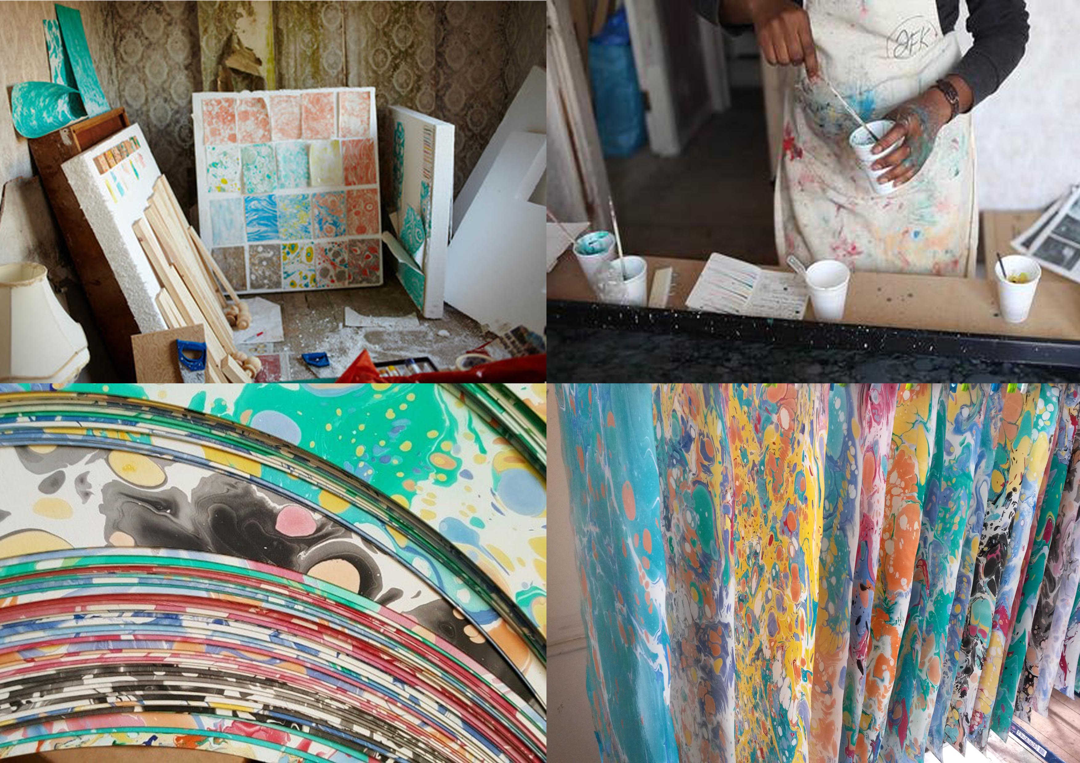 Cass Art: Marbling Workshop with Vicki Opomu