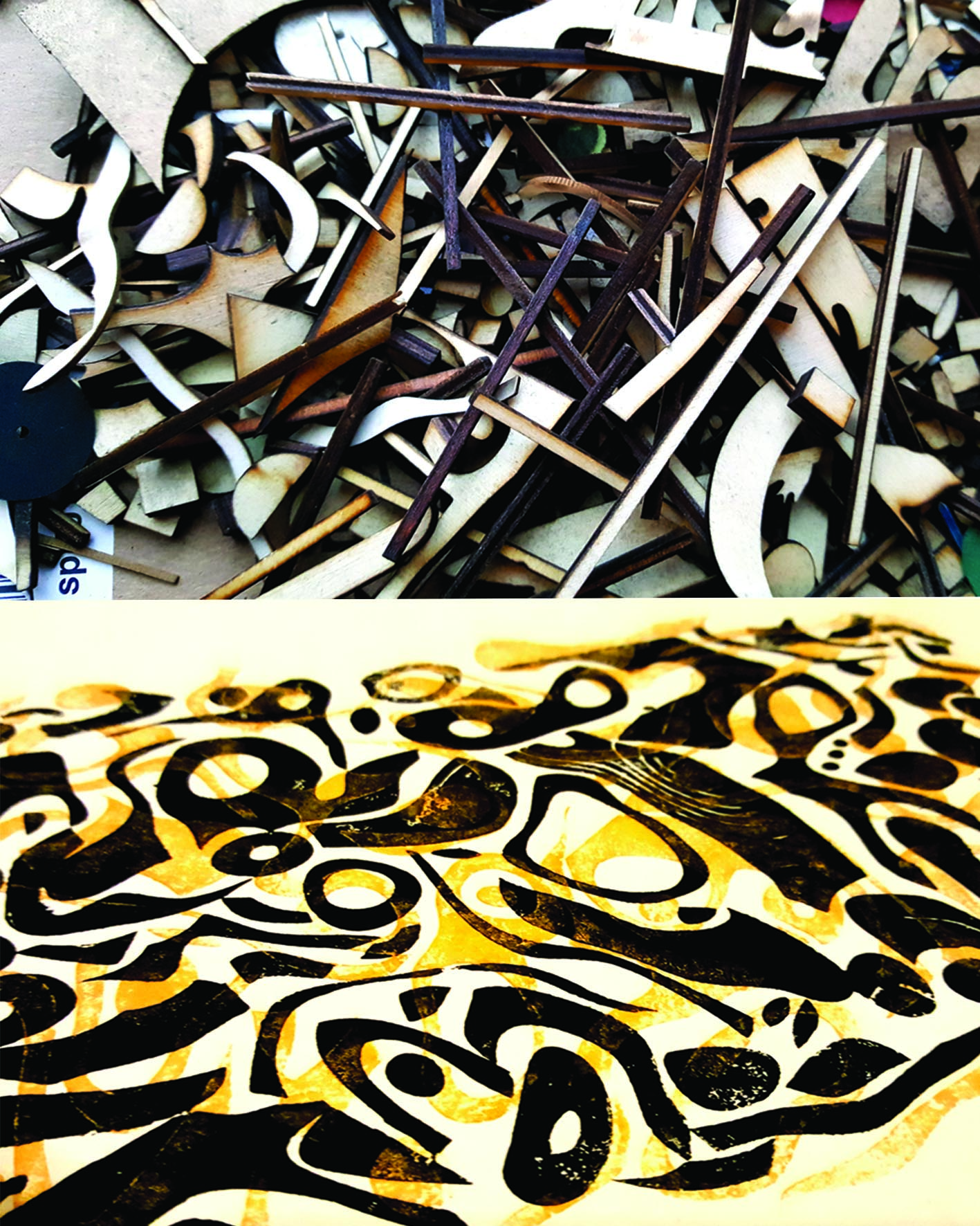 Cass Art: Relief Printmaking: Laser-cut and found parts